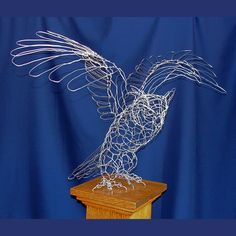 Great Horned Owl Wire Sculpture by sparkflight on Etsy