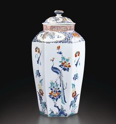 A RARE KAKIEMON 'HAMPTON COURT' VASE AND COVER, JAPAN, EDO PERIOD, 1670-1690 Chinese Ceramics, Japanese Ceramics, Japanese Pottery, Porcelain Ceramics, Ceramic Pottery, Pottery Art, Japanese China, Japanese Beauty, Japanese Style