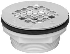 Oatey 42099 101 PNC PVC NO-CALK Shower Drain with Stainless Steel Strainer, This Oatey 1 in. Pvc dwv shower drain with in. Strainer comes with a stainless-steel strainer top with a mesh screen style. The drain is installed in pre-formed shower stalls. Bathtub Drain, Shower Drain, Bath Fixtures, Kitchen Fixtures, Plumbing Fixtures, Roof Flashing, Bathtub Accessories, Drain Repair, Shower Base