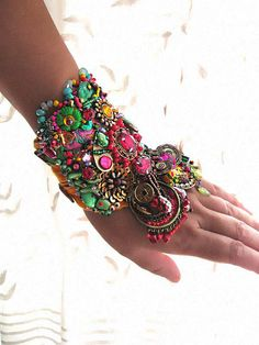 Soul Shakedown Gypsy Jangle Bracelet Bejewelled by AllThingsPretty, $385.00