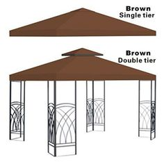 Gazebo Replacement Canopy Cover Brown - G245-BROWN  sc 1 st  Pinterest & ShelterLogic Max AP™ 10u0027 x 20u0027 Replacement Canopy Cover White ...