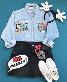Vintage Mickey Mouse Disney Style Walt Disney World // Disney Style // Disney T… Vintage Mickey Mouse Disney Style Walt Disney World // Disney Style // Disney Tee // Disney Outfit // Wear to Disney Disney World Outfits, Cute Disney Outfits, Disney Themed Outfits, Disney Clothes, Teenager Outfits, Outfits For Teens, Trendy Outfits, Cool Outfits, Disney Mode