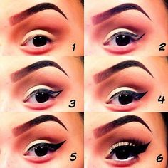Step-By-Step Eye Make-up Tutorials: Colourful make-up in pink-lavender shades with a winged eyeliner Best Makeup Tutorials, Make Up Tutorials, Makeup Tutorial For Beginners, Best Makeup Products, Perfect Eyeliner, How To Apply Eyeliner, Black Eyeliner, Eyebrows, Tutorials