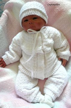 Cheri Crochet Original Baby PATTERN-Newborn to 3 months Sweater, Leggings, Hat, and Booties Baby Boy Knitting, Baby Knitting Patterns, Baby Patterns, Cardigan Bebe, Baby Cardigan, Baby Boy Christening, Baby Boy Sweater, Crochet For Boys, Boy Crochet