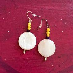 Natural #shell handmade #earrings