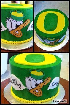 University of Oregon Birthday Cake