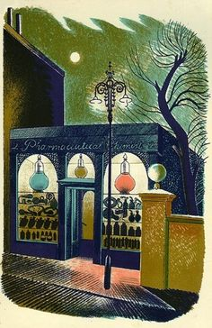 Eric Ravilious, from High Street lithographs, 1938