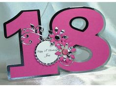Handmade, Special Age, Number Birthday Card, 16th, 18th, 21st, 30th, 40th, 50th, 60th, 70th, 80th, 90th, 100th, girls, children's, boys, men by LouisesCardsandGifts on Etsy