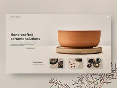Handcrafted Ceramics by Tom Bekkers Website Design Layout, Book Design Layout, Website Design Inspiration, Social Design, Presentation Board Design, Industrial Design Sketch, Magazine Layout Design, Catalog Design, Freelance Graphic Design