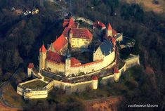 Veste Coburg, Germany One of Germany's largest castles, it dominates the surrounding countryside with its mighty walls and towers. The medieval fortress enjoyed its heyday in the early 16th century as the palace of the Electors of Saxony.  Martin Luther stayed within its walls in 1530
