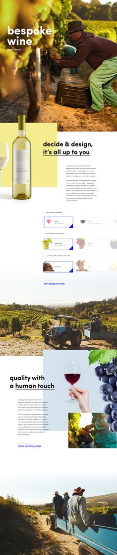 The Bespoke Winery – Ui design concept and visual identity by Patryk Sobczak @ Tonik
