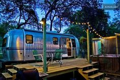 Airstream bnb - Texas Renovated Airstream trailer that modestly boasts living in luxury