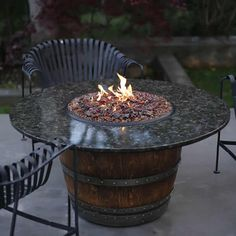 The Reserve Gas Wine Barrel Fire Pit Table #LearnShopEnjoy