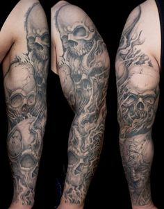 skulls Tattoo sleeve.
