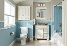A cabinet can easily be fitted to your wall without much meshing to your pipes. By using restroom cabinet your restroom appears more large and stylish that interest you as your dream bathroom. Budget Bathroom Remodel, Tub Remodel, Shower Remodel, Bathroom Remodeling, Bathroom Makeovers, Remodeling Ideas, Kitchen Remodel, Bathroom Design Small, Simple Bathroom