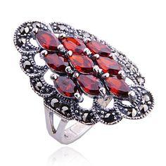 #hallobeauty#Slow Dance Garnet Ring - Rings - Women's - Jewelry