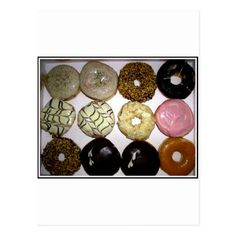 DELICIOUS SWEET DONUTS POSTCARD