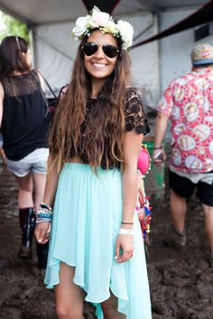 The Greatest Festival Fashion at This Year's Governors Ball wow super cute Festival Mode, Festival Looks, Festival Chic, Music Festival Fashion, Festival Outfits, 2014 Fashion Trends, Boho Look, Cute Summer Outfits, Mode Inspiration