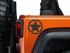 XT Graphics Small Wrangler On The Move Stars - Matte Black - Pair J100411 (87-16 Wrangler YJ, TJ & JK) - Free Shipping