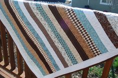 Pure jellyroll quilt