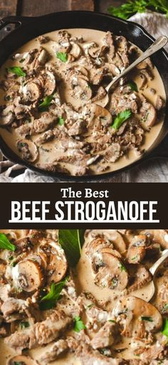 Best Beef Recipes, Beef Recipes For Dinner, Entree Recipes, Meat Recipes, Cooking Recipes, Healthy Recipes, Delicious Recipes, Healthy Food, Beef Stroganoff Sauce