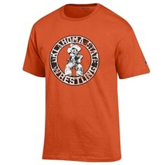Oklahoma State Cowboys Orange Wrestling T-Shirt
