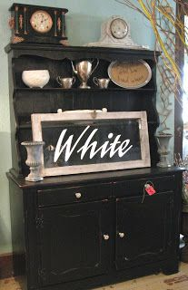 Big black beauty! Hutch sold at Sisters Garden.