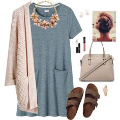 A fashion look from October 2015 featuring Toast dresses, Birkenstock sandals and Kate Spade handbags. Browse and shop related looks.