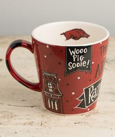 Loving this Arkansas Razorbacks Collegiate Mug on #zulily! #zulilyfinds