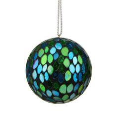 Found it at Wayfair - Regal Peacock Mosaic Glass Ball Christmas Ornament
