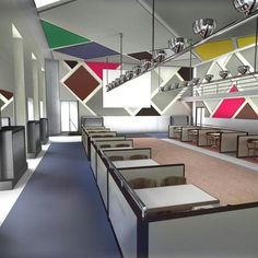 """Theo Van Doesburg, Cafe L'Aubette, Strasbourg, FR, 1928-1929. """"Painting without architectural construction has no further reason for existence."""""""