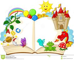 Fantasy Book Cartoon Royalty Free Stock Image - Image: 36399816