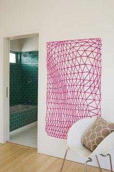 Irregular Mesh wall decal by doodlersanonymou.... Way cool!