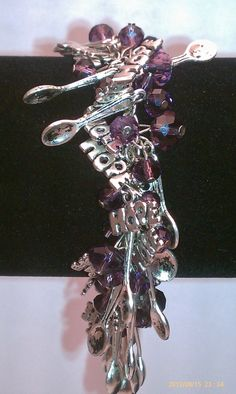 Spoon Theory Bracelet | Fibromyalgia Awareness Charm Bracelet Hope Charms Spoon Charms 00488