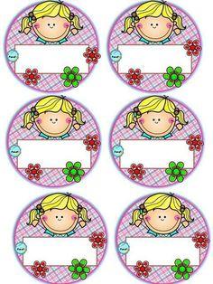 Badges for Kindergarten Children - Preschool Children Akctivitiys Class Decoration, School Decorations, Classroom Labels, Classroom Decor, Pre School, School Days, School Border, School Frame, School Labels