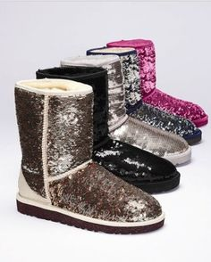 Sparkley boots ! I want all of them !!