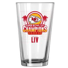 Kansas City Chiefs Super Bowl LIV Champions 16oz. Roster Pint Glass Chiefs Super Bowl, Kansas City Chiefs, Pint Glass, Champion, Beer, Tableware, Ale, Dinnerware, Dishes