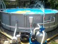 Pump and filter for above ground pool [Pool Accessories] Cleaning Above Ground Pool, Above Ground Pool Kits, Above Ground Pool Pumps, Above Ground Pool Liners, Above Ground Swimming Pools, In Ground Pools, Intex Swimming Pool, Amazing Swimming Pools, Swimming Pool Photos