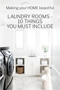 10 things to include in a Laundry Room - Making your Home Beautiful