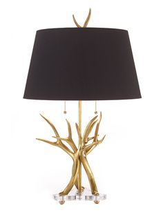 Horn Table Lamp from John Richard Furniture: Up to 70% Off on Gilt