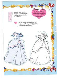 Disney's Cinderella paper doll (2 of 2) | Maggans Nostalgiska klippdockor