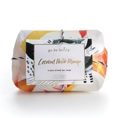 Illume Go Be Lovely Coconut Milk Mango Triple Milled Bar Soap Available at Athalia's Boutique