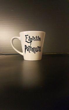 Espresso Patronum coffee mug  Harry Potter by BlackCatPrints