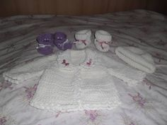 sweater, slippers and hat for baby