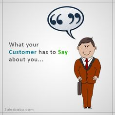 A Feedback is not just a View, Rather its an opportunity to #Improve & #GROW http://www.salesbabu.com/service/complaint-management/