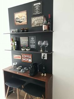We have really assembled numerous dazzling ideas for establishing a coffee bar in your home. These brilliant java terminals will definitely help you remain arranged as well as on budget strategy. Coffee Bars In Kitchen, Coffee Bar Home, Home Coffee Stations, Coffee Coffee, Ninja Coffee, Kitchen Bars, Mini Bars, Diy Bar, Cafe Bar