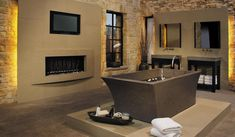 Best Bathroom Fireplace Design For Your Washroom