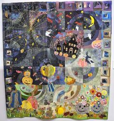 """Halloween Midnight Party"" by Kinuko Ota.  2015 Tokyo International Quilt Festival.  Photo by Julie Fukuda 