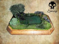 Magic The Gathering Graveyard Holder - SWAMP