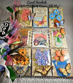 Butterfly Themed Pocket Letter Chocolate Crafts and Bears, Oh My Pocket Pal, Pocket Cards, Atc Cards, Card Tags, Pocket Scrapbooking, Scrapbook Pages, Round Robin, Chocolate Crafts, Pocket Envelopes